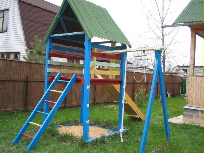 Как построить детскую площадку своими руками фото