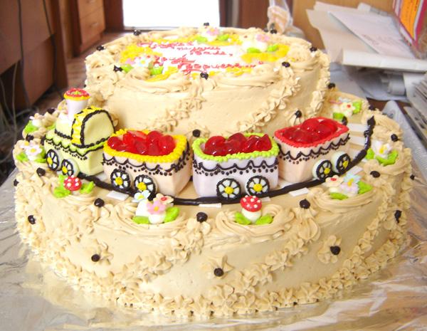 Торт детский на день рождения своими руками без мастики фото