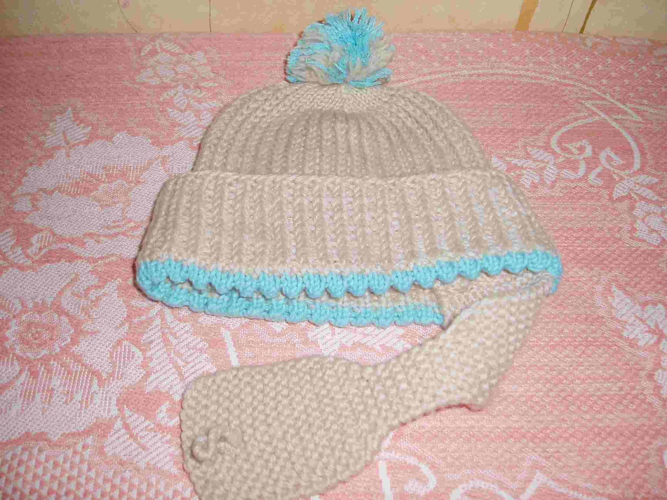 Вязание новорожденных шапочки на девочек 498
