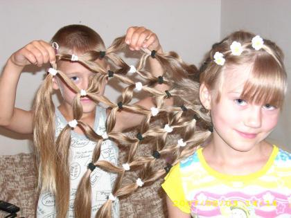 Как сделать прикольную прическу для девочек
